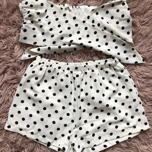Pants - Pink Lily Boutique Polka Dot Two Piece